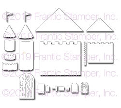 Frantic Stamper Precision Die - Castle Building Kit