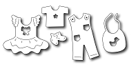 Frantic Stamper Precision Die - Baby Clothes Icons