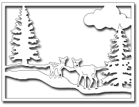 Frantic Stamper Precision Die - Winter Wonderland Card Panel