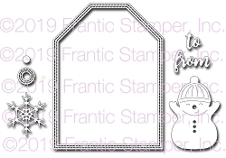 Frantic Stamper Precision Die - Great Big Winter Tag