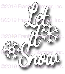 Frantic Stamper Precision Die - Let It Snow
