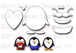 Frantic Stamper Precision Die - Pat The Penguin
