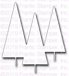 Frantic Stamper Precision Die - Mod Trees Backdrop