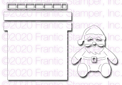Frantic Stamper Precision Die - Santa and Chimney