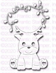 Frantic Stamper Precision Die - Cute Reindeer and Lights