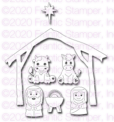 Frantic Stamper Precision Die - Sweet Nativity