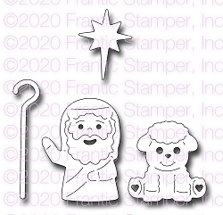 Frantic Stamper Precision Die - Sweet Shepherd & Sheep