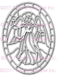 Frantic Stamper Precision Die - Angel Stained Glass