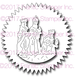 Frantic Stamper Precision Die - Framed Wise Men