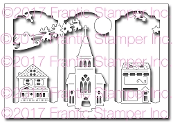 Frantic Stamper Precision Die - Triptych Village Card Panel