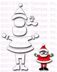 Frantic Stamper Precision Die - Build A Santa