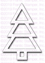Frantic Stamper Precision Die - Shaker Christmas Tree