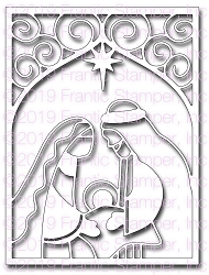 Frantic Stamper Precision Die - Nativity Card Panel