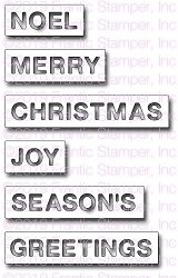 Frantic Stamper Precision Die - Christmas Reverse-Cut Words