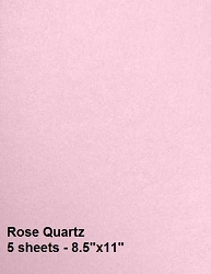 Frantic Stamper - Metallic Shimmer Cardstock - Rose Quartz (5 sheets 8.5