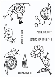 Funky Fossil - A6 Clear Stamp - Snail Mail
