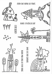 Funky Fossil - A5 Clear Stamp - Whimsy Town