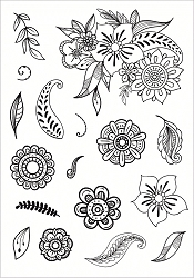 Funky Fossil - A5 Clear Stamp - Funky Florals