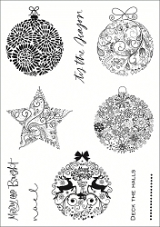 Funky Fossil - A5 Clear Stamp - Elegant Ornaments