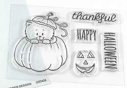 Gerda Steiner - Clear Stamps - Peekin' Pumpkin Kitty