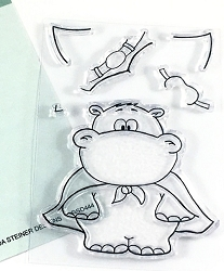 Gerda Steiner - Clear Stamps - Hippo In Disguise