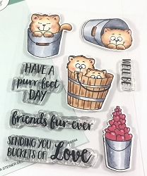 Gerda Steiner - Clear Stamps - Buckets of Love