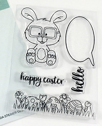 Gerda Steiner - Clear Stamps - Nerdy Easter Bunny