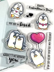 Gerda Steiner - Clear Stamps - Valentine Penguins