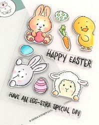 Gerda Steiner - Clear Stamps - Peeking Easter Friends