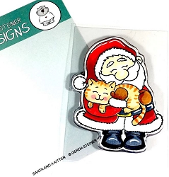 Gerda Steiner - Clear Stamps - Santa and a Kitten