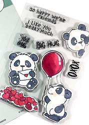 Gerda Steiner - Clear Stamps - Lovely Pandas