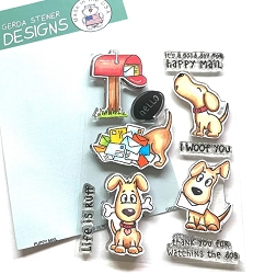 Gerda Steiner - Clear Stamps - Puppy Mail