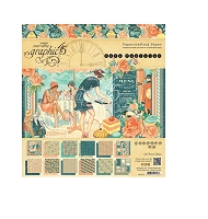 Graphic 45 - Cafe Parisian Collection - 8x8 Paper Pad