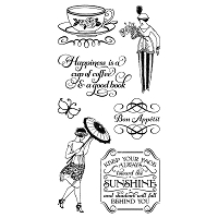 Graphic 45 - Cafe Parisian Collection - Cling Stamps 3  :)