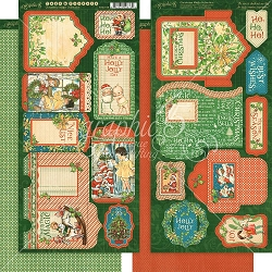 Graphic 45 - Christmas Magic Collection - Tags & Pockets