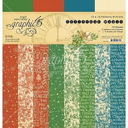 Graphic 45 - Christmas Magic Collection - 12x12 Patterns & Solids Paper Pad