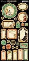 Graphic 45 - Enchanted Forest Collection - Journaling Chipboard
