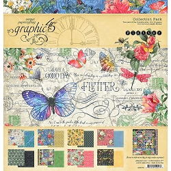 Graphic 45 - Flutter Collection - 12x12 Collection Pack :)