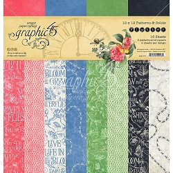 Graphic 45 - Flutter Collection - 12x12 Patterns & Solids Paper Pad :)