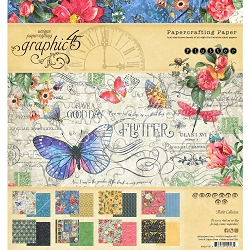 Graphic 45 - Flutter Collection - 8x8 Paper Pad