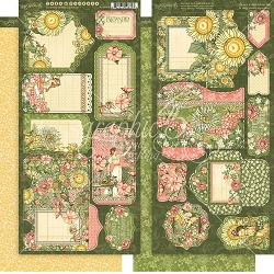 Graphic 45 - Garden Goddess Collection - Tags & Pockets