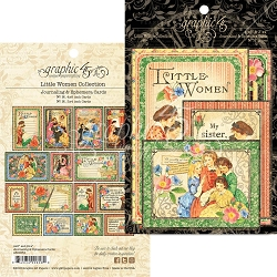 Graphic 45 - Little Women Collection - Ephemera Cards