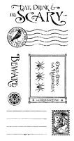 Graphic 45 - An Eerie Tale Collection - Cling Stamp - Grim Fairytale 3 :)