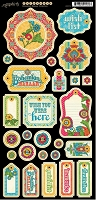 Graphic 45 - Bohemian Bazaar Collection - Chipboard Die Cuts 1  :)