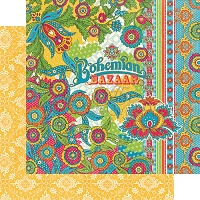 Graphic 45 - Bohemian Bazaar Collection - 12x12 Double Sided Paper - Bohemian Bazaar
