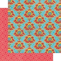Graphic 45 - Bohemian Bazaar Collection - 12x12 Double Sided Paper - Opulent Sunset