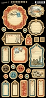 Graphic 45 - Cityscapes Collection - Journaling Chipboard