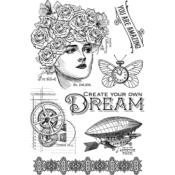 Graphic 45 - Imagine Collection - Dream Clear Stamps