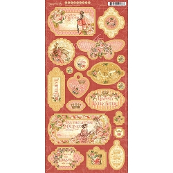 Graphic 45 - Princess Collection - Chipboard Decorative & Journaling
