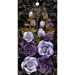 Graphic 45 - Staples - Rose Bouquet French Lilac & Purpe Royalty Flowers